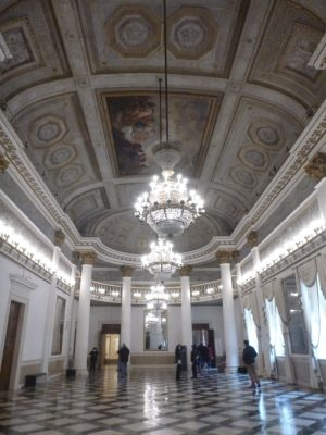 One of the grand rooms in the Correr Museum.